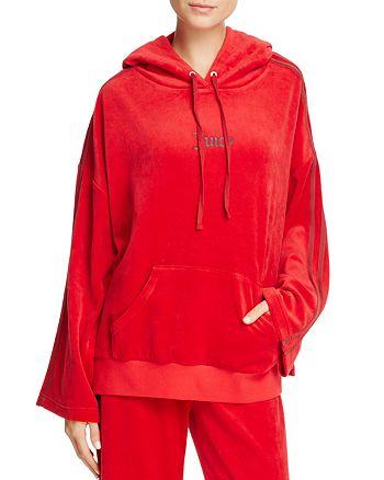 Juicy Couture Black Label - Bell Sleeve Velour Hooded Sweatshirt - 100% Exclusive