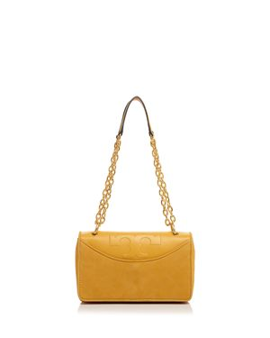 Tory Burch Alexa Suede and Leather Shoulder Bag 2621600