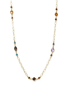 """Bloomingdale's - Multi Gemstone Chain Necklace in 14K Yellow Gold, 28"""" - 100% Exclusive"""
