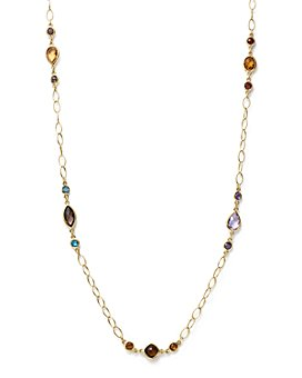 "Bloomingdale's - Multi Gemstone Chain Necklace in 14K Yellow Gold, 28"" - 100% Exclusive"