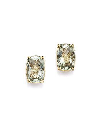 Bloomingdale's - Green Amethyst Stud Earrings in 14K Yellow Gold - 100% Exclusive