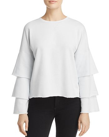 Juicy Couture Black Label - French Terry Ruffle-Sleeve Top