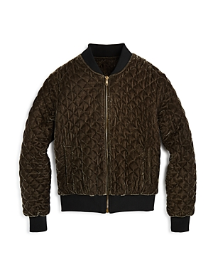 Aqua Girls Quilted Bomber Big Kid  100 Exclusive