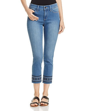 Nydj Sheri Embroidered Ankle Jeans in Evansdale