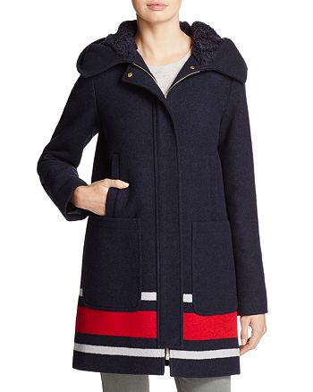 VINCE CAMUTO - Striped Coat - 100% Exclusive