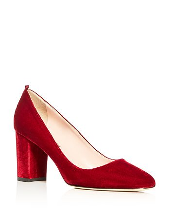 SJP by Sarah Jessica Parker - Women's Prosper Velvet Block Heel Pumps - 100% Exclusive