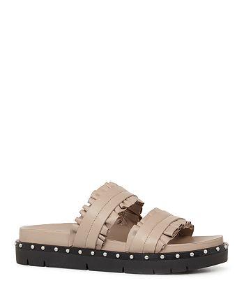 ALLSAINTS - Women's Alanna Ruffle Studded Slide Sandals