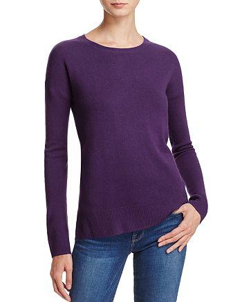 AQUA - High/Low Crewneck Cashmere Sweater - 100% Exclusive