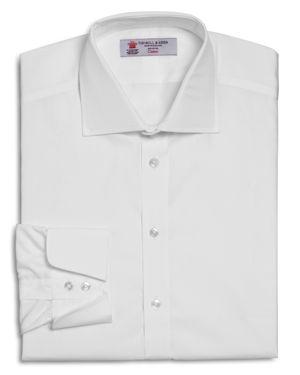 Turnbull & Asser Solid Regular Fit Dress Shirt