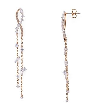 Nadri Ivy Cubic Zirconia Linear Chain Earrings