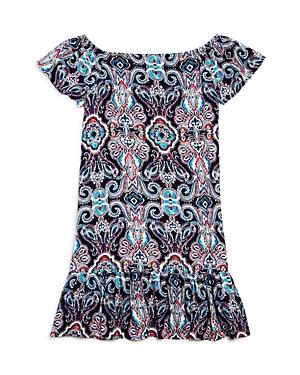 Aqua Girls' Off-the-Shoulder Drop-Waist Dress, Big Kid - 100% Exclusive
