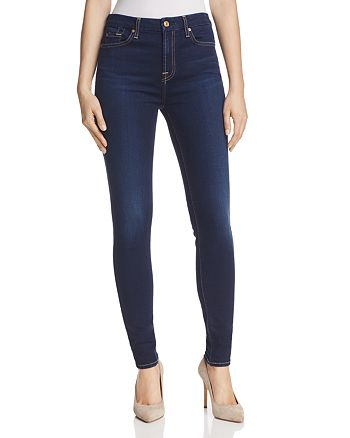7 For All Mankind - b(air) High Rise Skinny Jeans in Tranquil