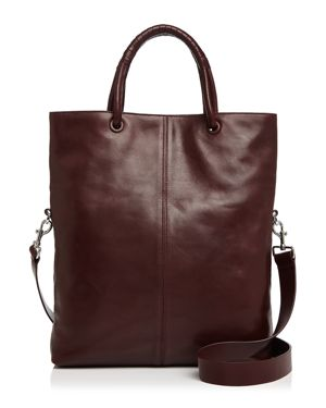Halston Heritage Ali Foldover Large Leather Tote