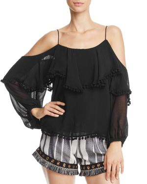 Misa Los Angeles Elisa Cold-Shoulder Top