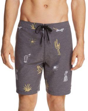 Banks Cactus Print Board Shorts