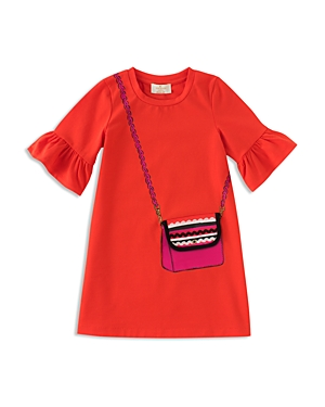 kate spade new york Girls Trompe LOeil Bag Dress  Big Kid
