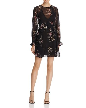 ASTR the Label - Heather Ruffle Floral Print Dress
