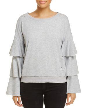 Honey Punch Ruffle-Sleeve Sweatshirt, Fashion Find - 100% Exclusive