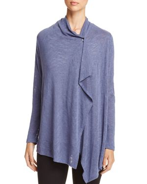 B Collection by Bobeau One-Button Asymmetric Cardigan - 100% Exclusive