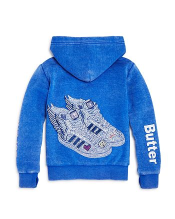 Butter - Girls' Fleece Superstar Sneakers Hoodie - Little Kid