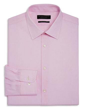 The Men's Store at Bloomingdale's - Textured Dobby Regular Fit Dress Shirt - 100% Exclusive