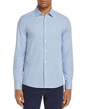 Michael Kors Gingham Stretch Slim Fit Button-Down Shirt