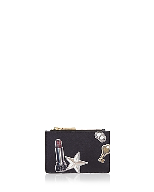 Marc Jacobs Tossed Charms Top Zip Multi Saffiano Leather Wallet