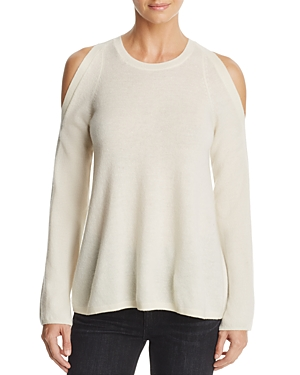 Soft Joie Amalyn Wool-Cashmere Cold-Shoulder Sweater