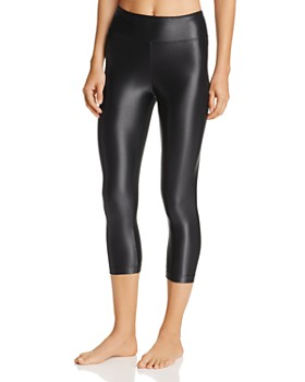 KORAL - Lustrous High-Rise Capri Leggings