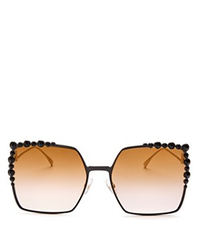 a6e6c52e85 Fendi - Women s Embellished Oversized Square Sunglasses