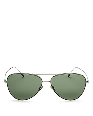 Giorgio Armani Lightweight Brow Bar Aviator Sunglasses, 58mm