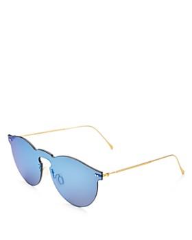 Illesteva - Women's Leonard Mask Mirrored Shield Sunglasses, 47mm