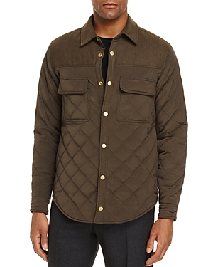 Scotch & Soda Quilted Button-Down Shirt Jacket