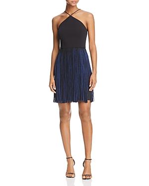 Aidan Aidan Scuba Fringe-Skirt Dress