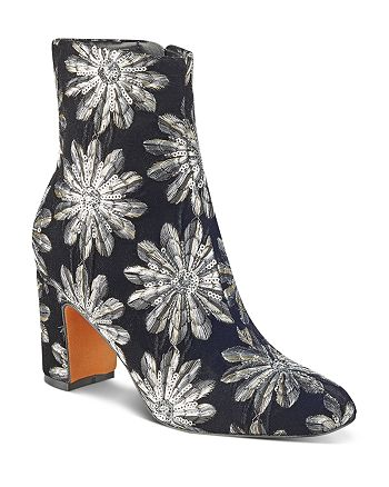 Marc Fisher LTD. - Women's Grazi Flocked Velvet Booties