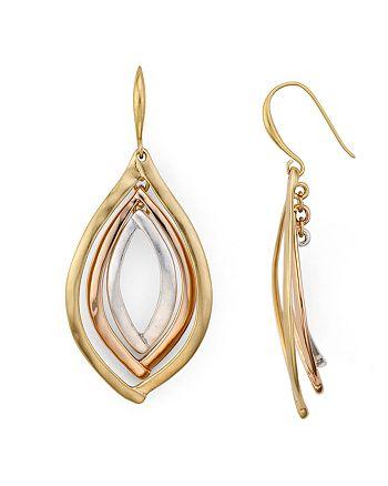 Robert Lee Morris Soho - Tri-Tone Orbital Earrings