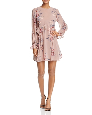 Astr Heather Ruffle Floral Print Dress