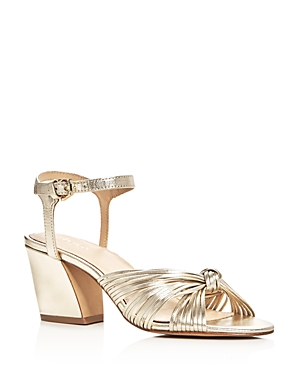 Botkier Patsy Metallic Ankle Strap Block Heel Sandals
