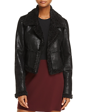 Ella Moss Claudine Faux-Leather and Faux-Shearling Jacket