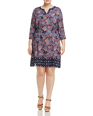 Foxcroft Plus Hannah Printed Dress