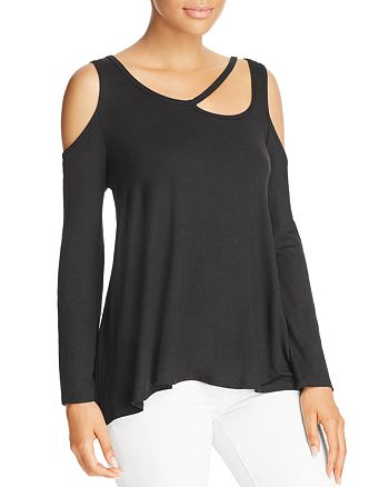 Alison Andrews - Long-Sleeve Cutout Top