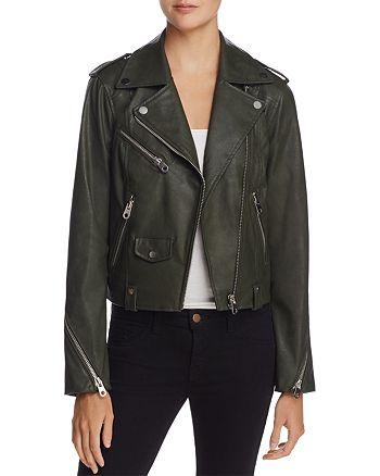 AQUA - Faux Leather Moto Jacket - 100% Exclusive