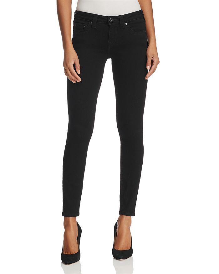 True Religion - Halle Super Skinny Jeans in Way Back Black