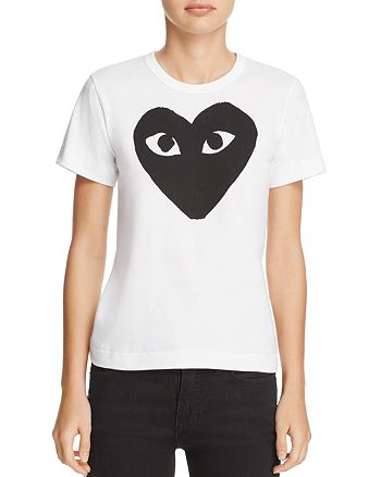 Comme Des Garcons PLAY - Medium Heart Graphic Tee
