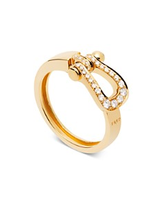 Fred 18K Yellow Gold Force 10 Diamond Medium Ribbon Ring - Bloomingdale's_0