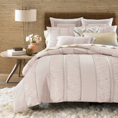 Chambray Stripe Duvet Cover Set, King - 100% Exclusive