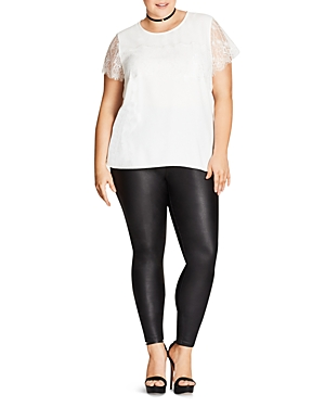 City Chic Lace Panel Top