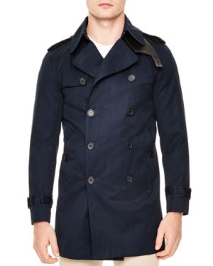 Sandro Magnetic Mid-Length Trench Coat