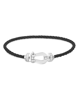 Fred - 10 Medium Cable Bracelets with 18K White Gold Buckles