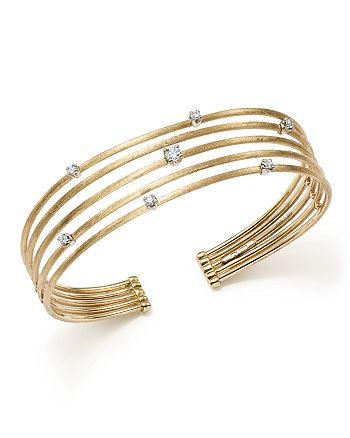 Marco Bicego - 18K White and Yellow Gold Luce Diamond Cuff Bracelet - 100% Exclusive